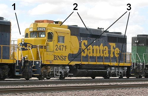 Finn's train and travel page : Trains : USA : Guide to locomotives on emd motor diagram, gp9 locomotive diagram, diesel locomotive diagram, f40ph locomotive diagram,