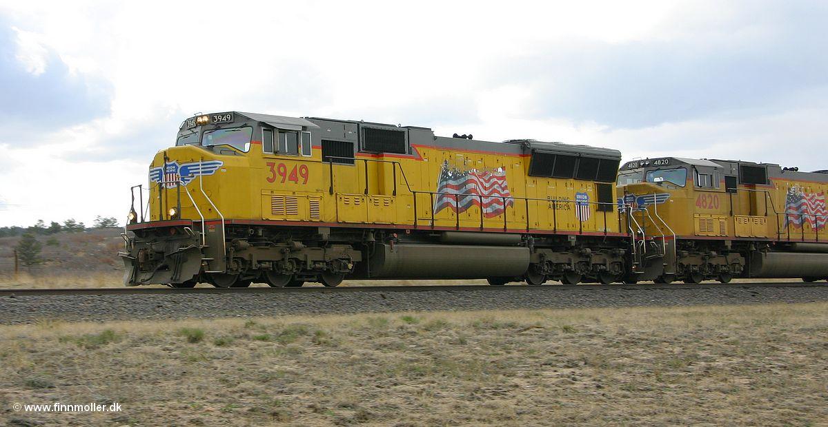 Finn's tog og rejseside : Tog : USA : UP : UP 3949