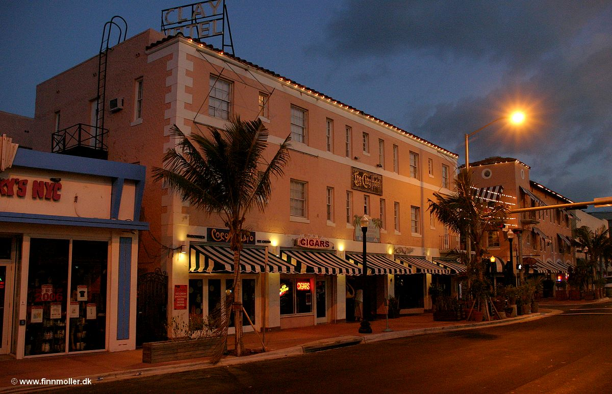 Miami Beach Clay Hotel Finn S Train And Travel Page Usa Florida